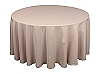 120 in. Round Polyester Tablecloth BEIGE