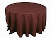 120 in. Round Polyester Tablecloth CHOCOLATE