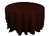 120 in. Round Polyester Tablecloth DARK BROWN