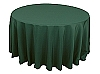 120 in. Round Polyester Tablecloth HUNTER GREEN