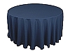 120 in. Round Polyester Tablecloth NAVY BLUE