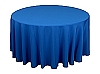 120 in. Round Polyester Tablecloth ROYAL BLUE