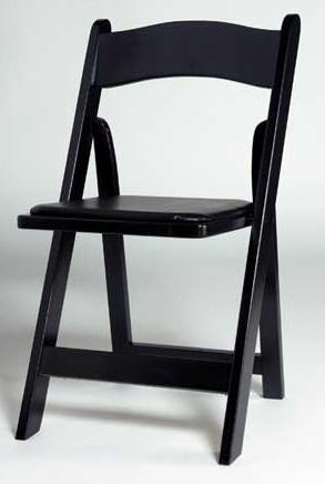 Black Wood Folding Chair- QUANTITY/ 100