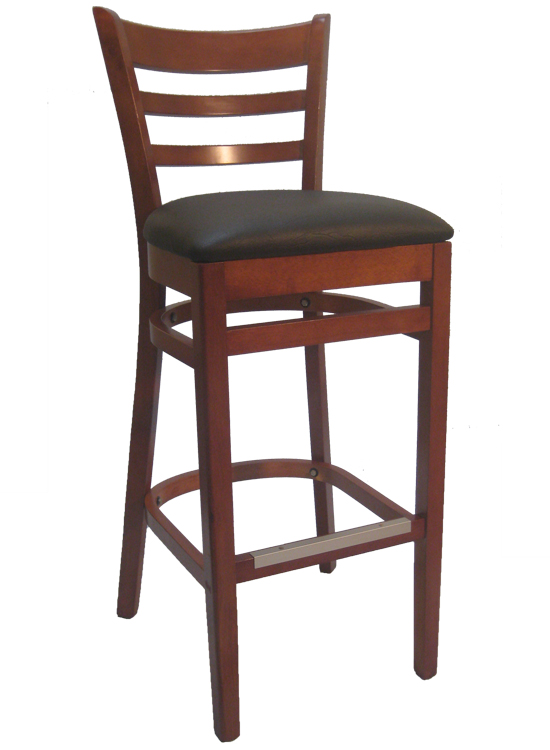 Bar Stools Lowest Prices Wooden Bar Stools Wholesale  : Ladderback20Walnut20Bar20Stool20Black20Vinyl20Seat from 1stackablechairs.com size 550 x 750 jpeg 176kB