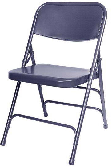 Superieur Navy All Metal Folding Chair  105 Series